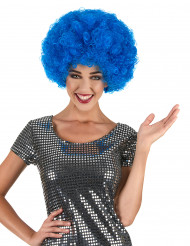 Parrucca afro disco clown blu confort adulto