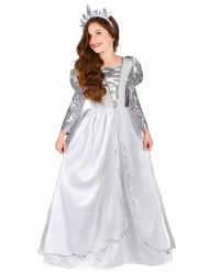 Costume principessa argentata bambina