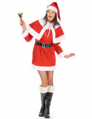Costume da Mamma Natale corto per donna