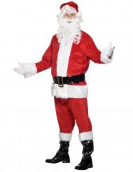 Costume Babbo Natale con parrucca uomo
