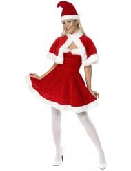 Costume Mamma Natale con mantellina per donna