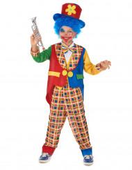Costume da clown giacca bicolore per bambino