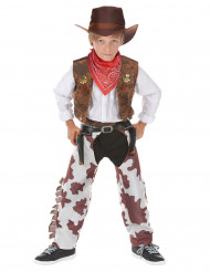 Costume cowboy temerario lusso bambino