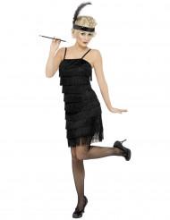 Costume charleston donna con piuma