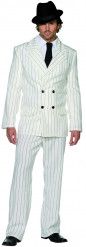 Costume gangster bianco uomo
