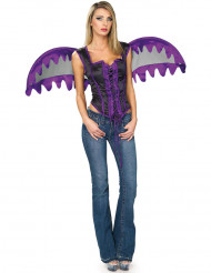 Costume con corsetto da angelo viola per donna