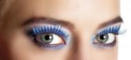 Ciglia finte blu e argento