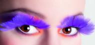 Ciglia finte piumate viola