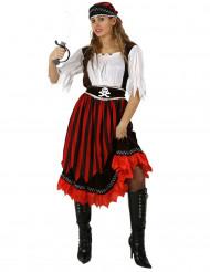 Costume da pirata con gonna lunga donna