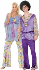 Costume coppia hippie Deluxe
