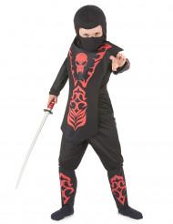Costume da ninja con teschio per bambino