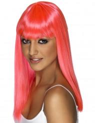 Parrucca glamour rosa donna