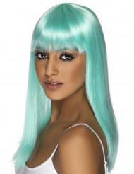 Parrucca glamour blu turchese donna