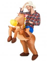 Costume cavallo gonfiabile adulto