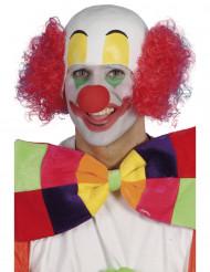 Parrucca da clown rossa uomo