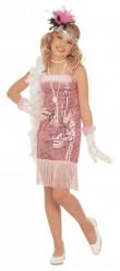 Costume cabaret rosa marilyn bambina