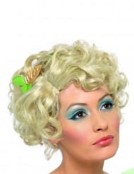 Parrucca bionda corta riccia donna