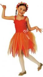 Costume da fata arancione ballerina per bambina