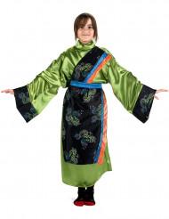 Costume cinese verde bambina