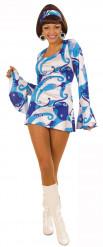 Costume disco donna blu