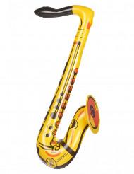 Saxofono gonfiabile giallo