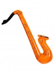 Saxofono gonfiabile arancione