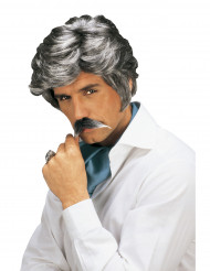 Parrucca e baffi da casanova uomo