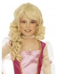 Parrucca bionda da principessa bambina