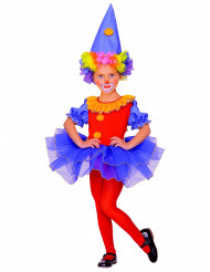Costume da clown con tutù bambina