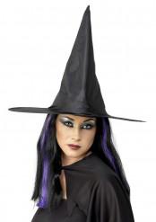 Cappello nero da strega adulto Halloween