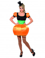 Costume zucca donna Halloween