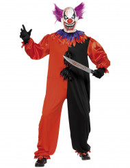 Costume clown terrificante adulto Halloween