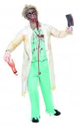 Costume zombie dottore uomo Halloween