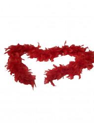 Boa di finte piume rosse