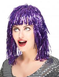 Image of Parrucca viola metallizzato adulti