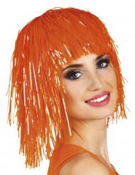 Parrucca arancione fluo adulti