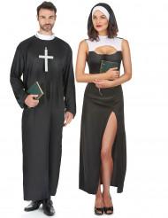 Costume coppia suora e prete