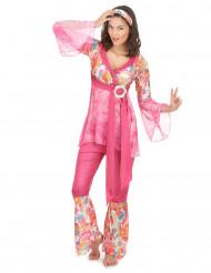 Costume hippy rosa per donna