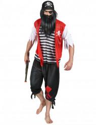 Costume da pirata con bandana per uomo