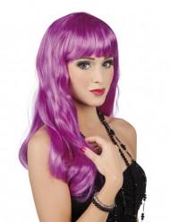 Parrucca lunga viola per donna