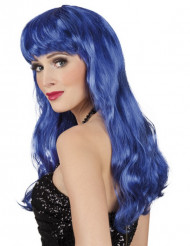 Parrucca da fatina blu donna