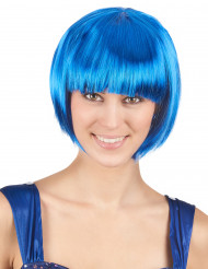 Parrucca corta blu elettrico donna