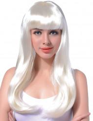 Parrucca lunga bianca donna