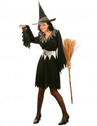 Costume da strega con dettagli grigi per donna