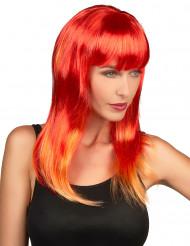 Parrucca lunga capelli rossi donna