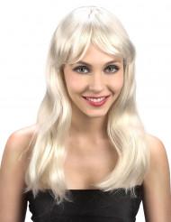 Parrucca bionda con frangetta donna
