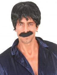 Parrucca nera disco uomo