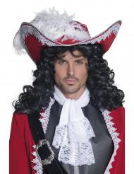 Cappello da pirata rosso adulto