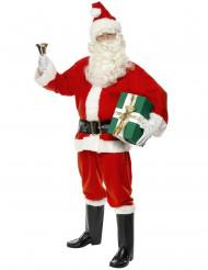 Costume da Babbo Natale con ghette per uomo