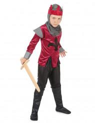 Costume cavaliere rosso con corona bambino